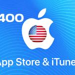 بطاقة ايتونز 400 دولار – المتجر الأمريكي